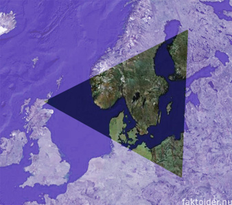 The Bermuda Triangle, superimposed over Europe