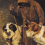 St bernhardshund - John Emms (1844-1912), St Bernhards to the rescue