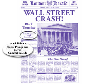 London Herald, 1929 - Wall Street Crash!